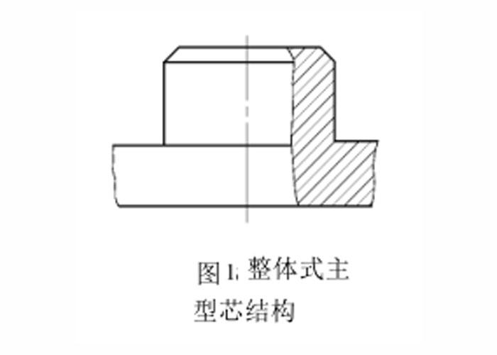 塑胶模具整体式主型芯结构图