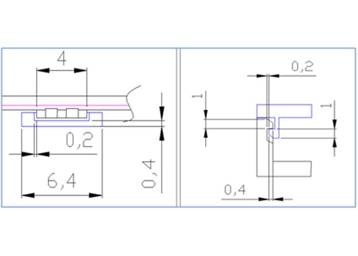 注塑塑胶模具与压铸金属扣数值设计示意图