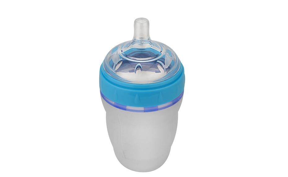 立式注塑镶嵌成形硅胶奶瓶图