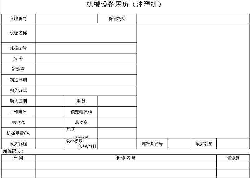 磨牙棒代加工厂家设备履历表