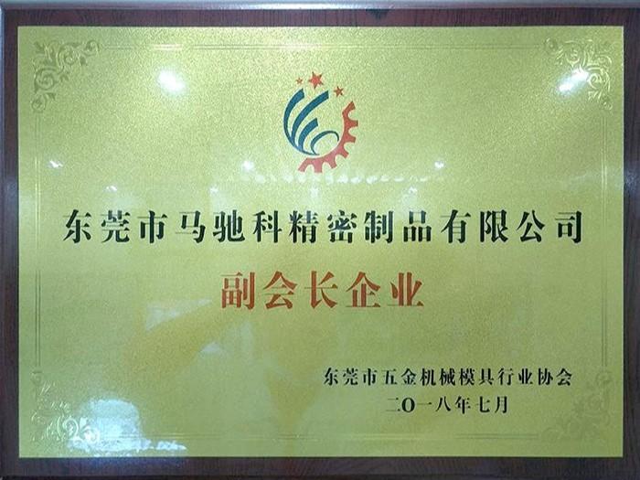 马驰科 东莞市五金机械模具行业协会-副会长企业