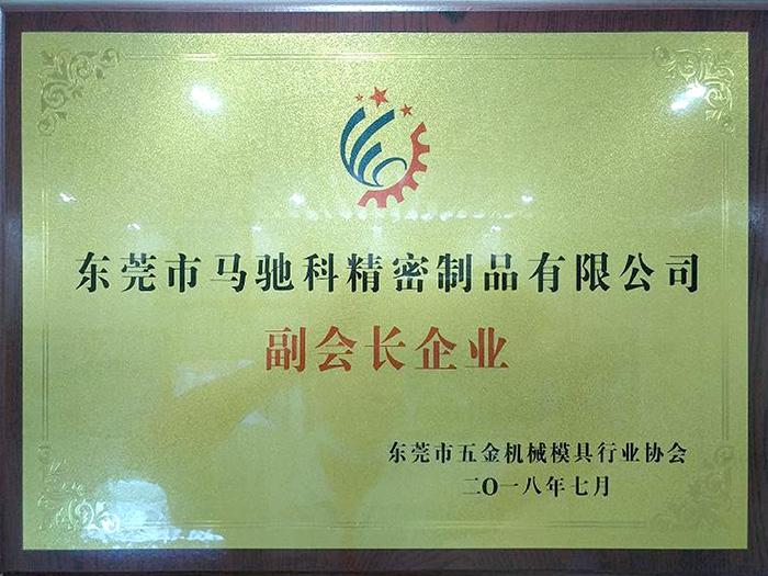 马驰科-东莞市五金机械模具行业协会 副会长企业