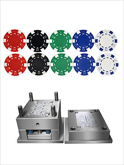 游戏币定制立式注塑包胶模具